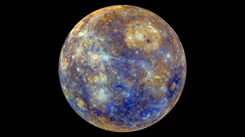 Mercury in vivid color